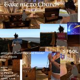Take Me to  Church Pew & Kneeler animated (crate)
