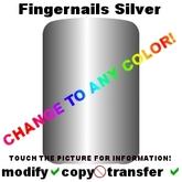 Colorable Fingernails, silver (transferable)