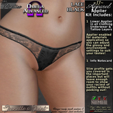 ~JJ~ Panties Omega Applier (lace black)