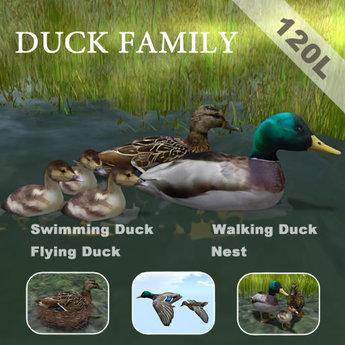 1Prim Duck All In One ( Swim+Walk+Fly+Wear+Nest )
