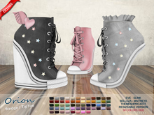 ::MA:: ORION Wedge/Tiptoe Sneakers Belleza, Slink, Maitreya, #TMP, Eve & Regular AV - 50 Colors Pack