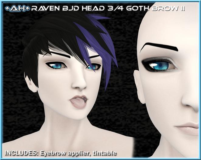 +AH+ BJD Head 3&4 Brow Goth II