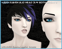 +AH+ BJD Head 3&4 Brow Goth II