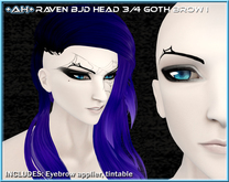 +AH+ BJD Head 3&4 Brow Goth I