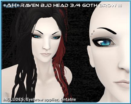 +AH+ BJD Head 3&4 Brow Goth III