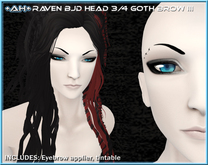 +AH+ BJD Head 3&4 Brow Goth III