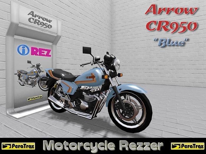 "(PeraTrax) - Motorcycle Rezzer ""Arrow CR950"" [Blue]"