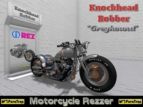 "(PeraTrax) - Motorcycle Rezzer ""Knockhead Bobber"" [Greyhound]"