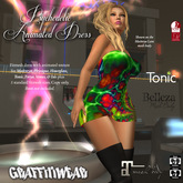 Graffitiwear Psychedelic Animated Dress