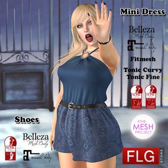 ::FLG Lilian Mini Dress + HUD 20 Models::