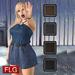 Flg hud lilian mini dress   4 models   belt