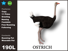 [TomatoPark]Ostrich Mesh  roaming + wearable(ride pose)
