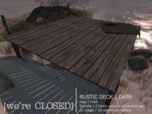 [we're CLOSED] rustic deck 1 dark