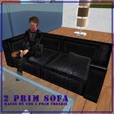 2-Prim leather sofa/couch
