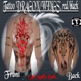 Tattoo Dragon/Wings, red/black