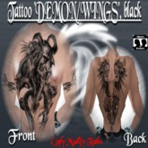 Tattoo Demon/Wings, black