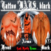 Tattoo Bats, black