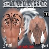 Tattoo Dragon&Angel, male, black
