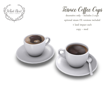 What Next Terrace Coffee Cups Decor