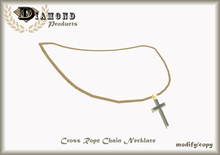 CROSS ROPE CHAIN NECKLACE