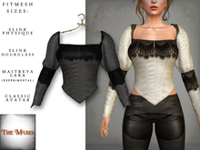 The Muses ~ Victoria . Top . Grey