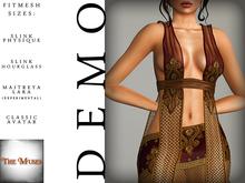 The Muses ~ Gilded net . DEMO - Fitmesh - Belleza, Slink, Maitreya, Classic Sizes.