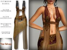 The Muses ~ Gilded net . Black - Fitmesh - Belleza, Slink, Maitreya, Classic Sizes.