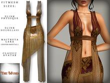 The Muses ~ Gilded net . Ivory - Fitmesh - Belleza, Slink, Maitreya, Classic Sizes.