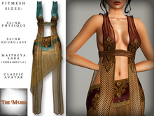 The Muses ~ Gilded net . Teal - Fitmesh - Belleza, Slink, Maitreya, Classic Sizes.