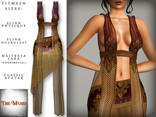The Muses ~ Gilded net . Wine - Fitmesh - Belleza, Slink, Maitreya, Classic Sizes.