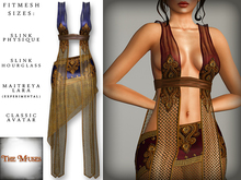 The Muses ~ Gilded net . Blue - Fitmesh - Belleza, Slink, Maitreya, Classic Sizes.