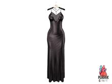 PLASTIX - Satin Slip Dress (Black)