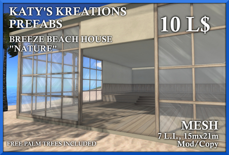 BEACH HOUSE NATURE - MESH 7 LI - KK BREEZE - MESH STORE, MESH PREFAB, MESH HOUSE, MESH BUILDING, MESH SHOP