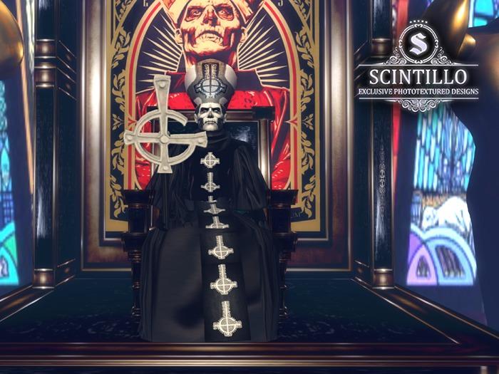 Scintillo Papa Emeritus II Avatar - full men's avatar, male avatar for men,shape,skin,eyes,skullface,skull face,make up