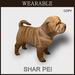 [TomatoPark] Wearable Shar Pei Dog