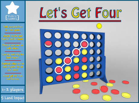 Let's Get Four - Connect four in a row game!