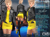 Bella Moda: Divo Yellow Rock Star Skirt, Jacket & Boots Outfit - Fitted for Maitreya/Slink/Belleza/+Classic Sizes - FULL