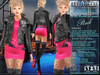 Bella Moda: Divo Pink Rock Star Skirt, Jacket & Boots Outfit - Fitted for Maitreya/Slink/Belleza/+Classic Sizes - FULL