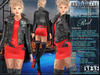 Bella Moda: Divo Red Rock Star Skirt, Jacket & Boots Outfit - Fitted for Maitreya/Slink/Belleza/+Classic Sizes - FULL