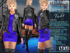 Bella Moda: Divo Violet Rock Star Skirt, Jacket & Boots Outfit - Fitted for Maitreya/Slink/Belleza/+Classic Sizes - FULL