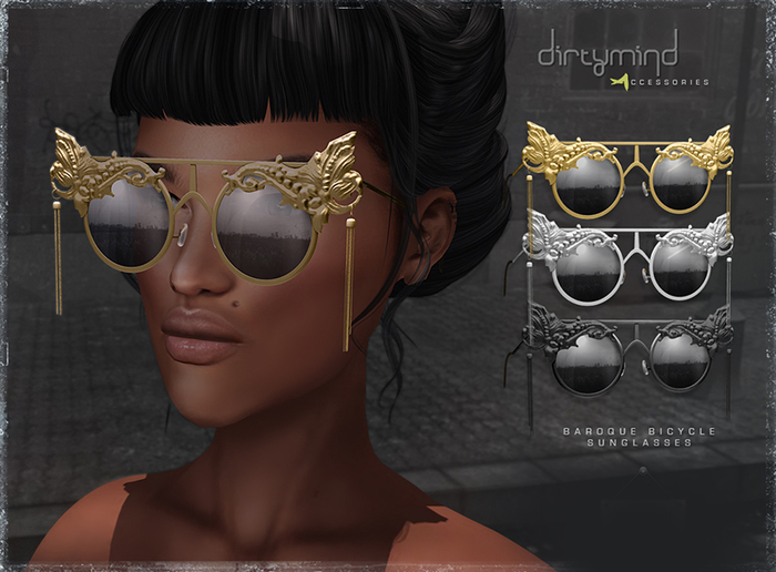 ::DirtyMind:: Baroque Bicycle Sunglasses - Gold