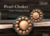 """Pearl Choker """"Silver"""" (mesh) - Bokeh"""