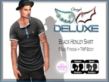 Angel DELUXE - Back Henley Shirt - FITMESH + TMP