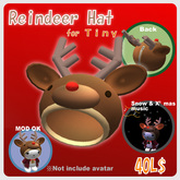 Reindeer Hat for Tiny AV