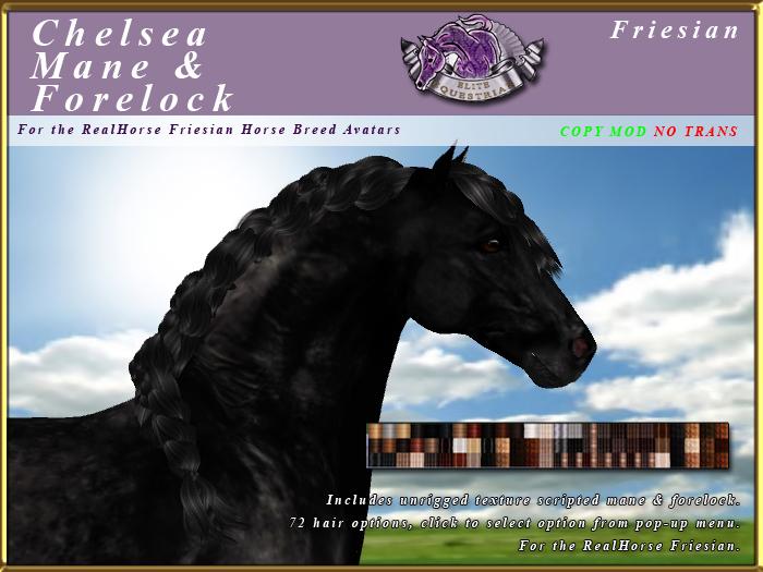 *E* Chelsea Mane & Forelock Set [BOXED] RH Friesian