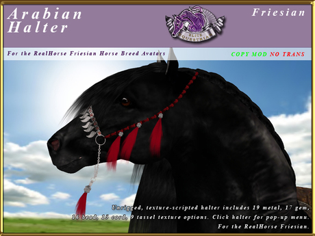 *E* Arabian Halter [BOXED] RH Friesian