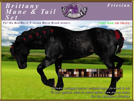 *E* Brittany Mane & Tail Set [BOXED] RH Friesian