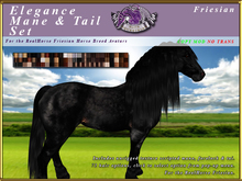 *E* Elegance Mane/Tail Set [BOXED] RH Friesian
