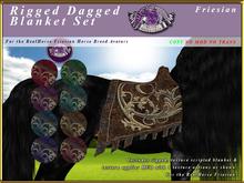 *E* Dagged Blanket Set [BOXED] RH Friesian