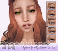 KITTEN Eyebrows for OMEGA System & Catwa- 2 Styles+TINTABLE